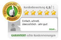 TravelSecure eKomi Kundenbewertungen