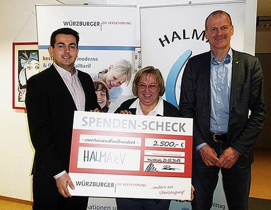 Soziale Projekte - Spendenübergabe HALMA e.V.