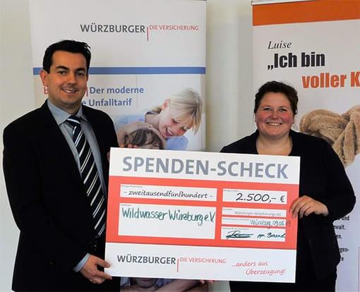 Soziale Projekte - Spende für Wildwasser Würzburg