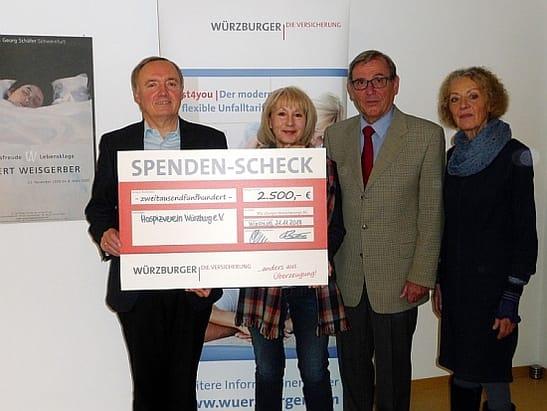 Soziale Projekte - Spende an Hospizverein Würzburg