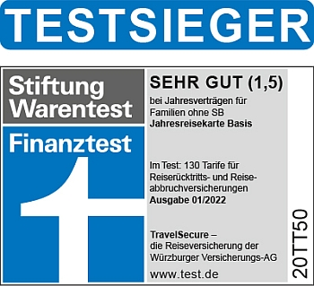 Jahresreisekarte Basis Familien Finanztest Testsieger | Stiftung Warentest 2020/21 Jahresreisekarte Basis Familien Finanztest Testsieger | Stiftung Warentest 2020/21